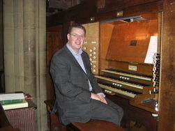 Andrew West at the Organ of St Mary's, Slough