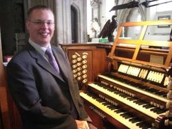 Andrew West at the Organ of Holy Trinity, Bradford on Avon