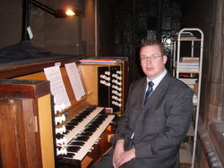 Andrew West at the Organ of St Mary of Eton, Hackney Wick