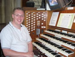 Andrew West at the Organ of St Edmundsbury Cathedral