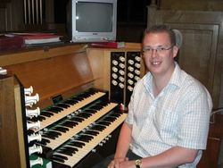 Andrew West at the Organ of Lavenham Parish Church