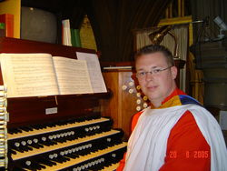 Andrew West at the Organ of Truro Cathedral