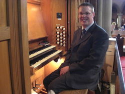 Andrew West at the Organ of Christ Church, Watford
