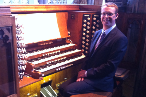 ANdrew West at St Peter & St Paul, Wisbech, Cambridgeshire, Harrison organ