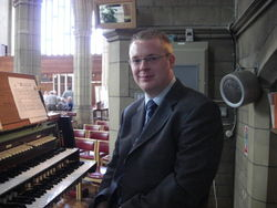 Andrew West at the Organ of St Mary's & All Saints Church, Potters Bar