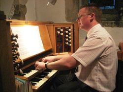 Andrew West at the Organ of Pinner Parish Church