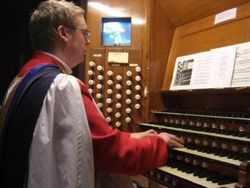 Andrew West at the Organ of Bristol Cathedral